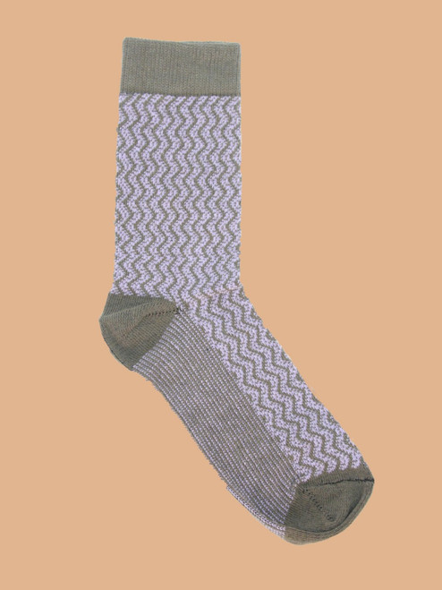 Diddley Forest - Paired Crew Socks - Recycled Fibers
