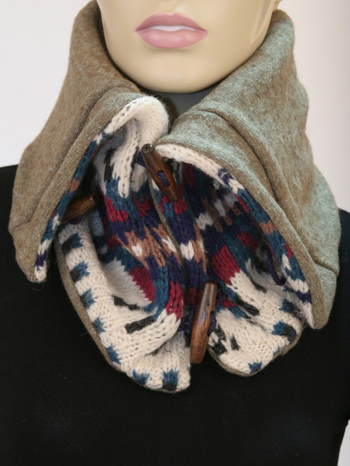 Aspen Snood Scarf Winter Tribal - Recycled Material