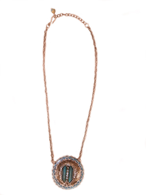 Urban Cowgirl Necklace -Vintage Recycled Metal