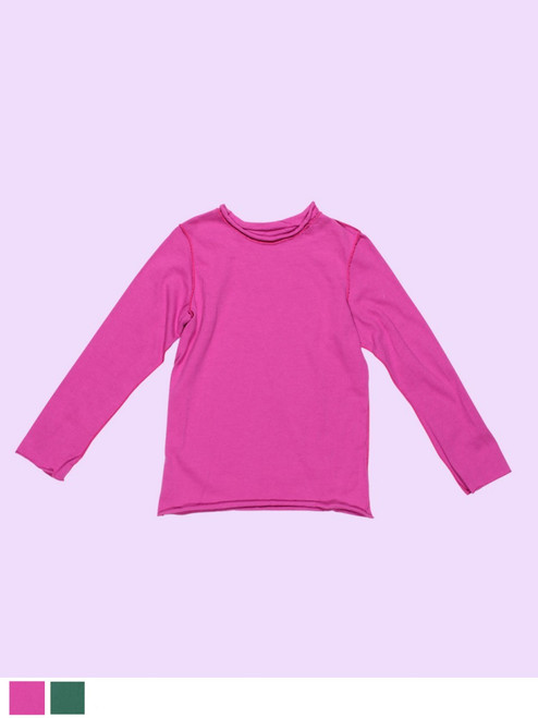 Long Sleeve Plain T-Shirt - Organic Cotton Jersey
