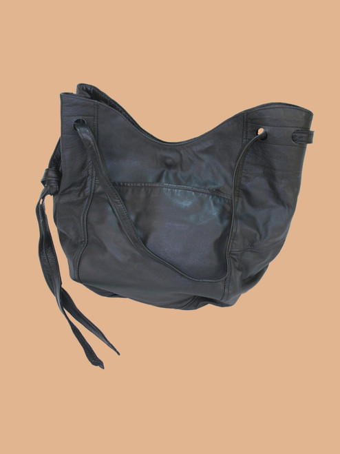 Tote Black Recycled Leather Bag