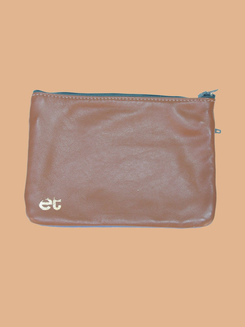 Brown/Ocean Blue Change Purse - Recycled Leather