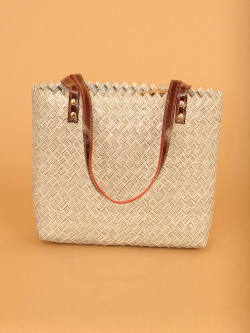 Ritual in Bar Code Handbag - Recycled Materials. Fair Trade