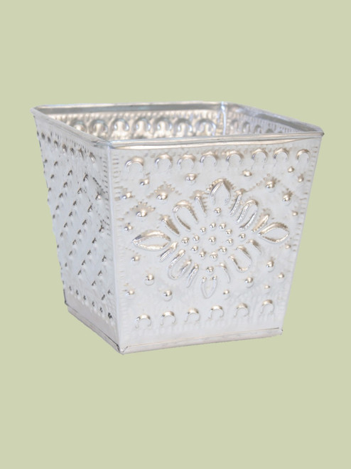 Recycled Aluminum Flower Pot