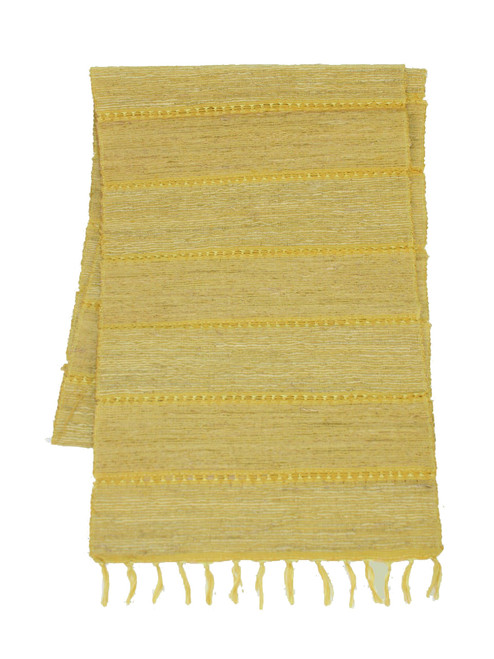 Citrus Stripe Vetiver Table Runner - Fair Trade