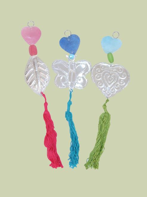 Recycled Aluminum Love Ornaments -12 Pk - Fair Trade