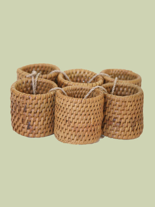 Atta Grass Napkin Rings - Set of 6