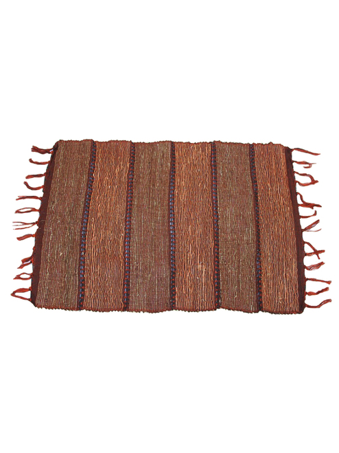 Brick Stripe Vetiver Placemat . Set of 6 - Fair Trade
