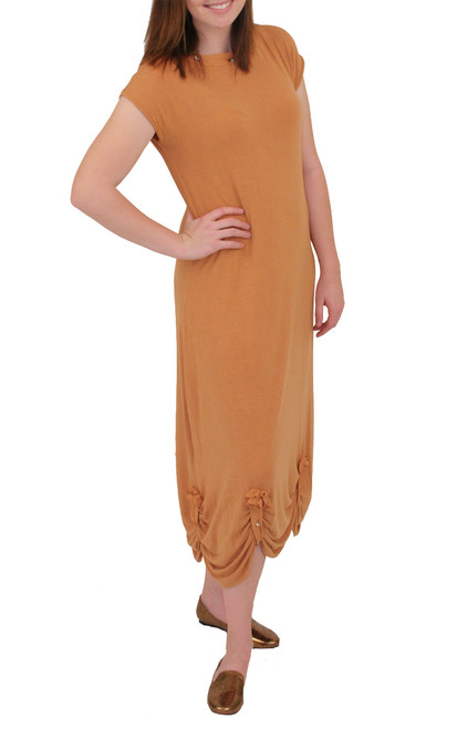 Cap 3/4 Length Dress - Bamboo Rayon