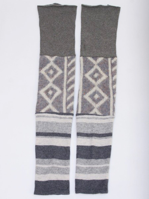 Gisselle Legwarmer Grey Scale - Recycled Material
