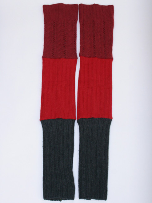 Gisselle Legwarmer Red Ombre - Recycled Material