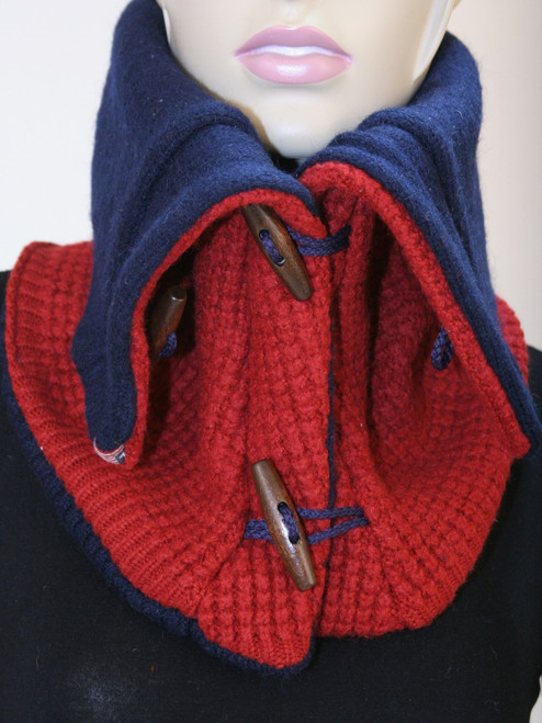 Aspen Snood Scarf Big Red - Recycled Material