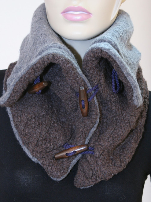 Aspen Snood Scarf Dark Oak - Recycled Material