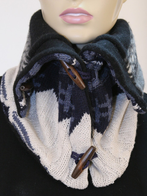 Aspen Snood Scarf  Ash Tag - Recycled Material