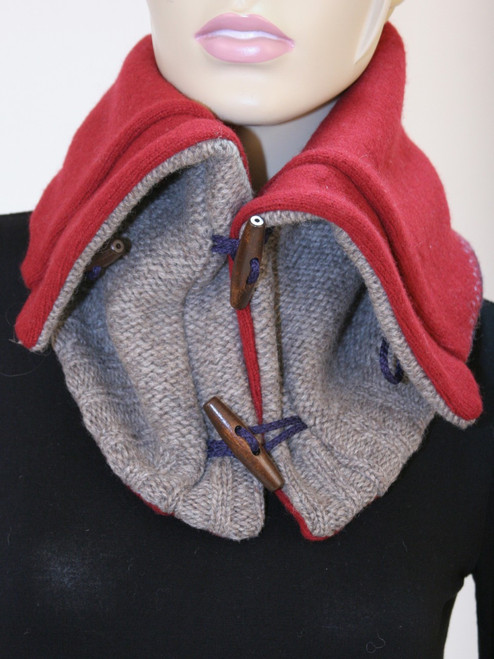 Aspen Snood Scarf Scarlet  - Recycled Material
