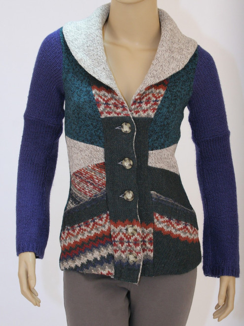 Miss Ellie Cardigan Blueberry - Recycled Material