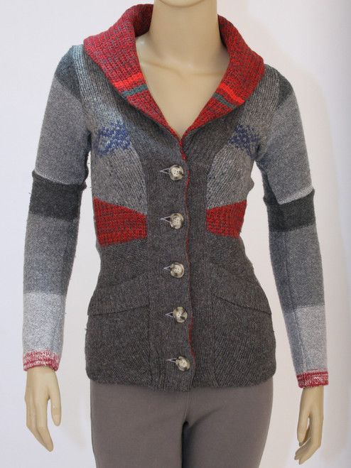 Miss Ellie Cardigan Cinder - Recycled Material