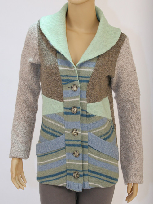 Miss Ellie Cardigan Pistachio - Recycled Material