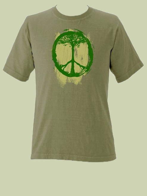 Peace Symbol Tree Short Sleeve Organic Tee