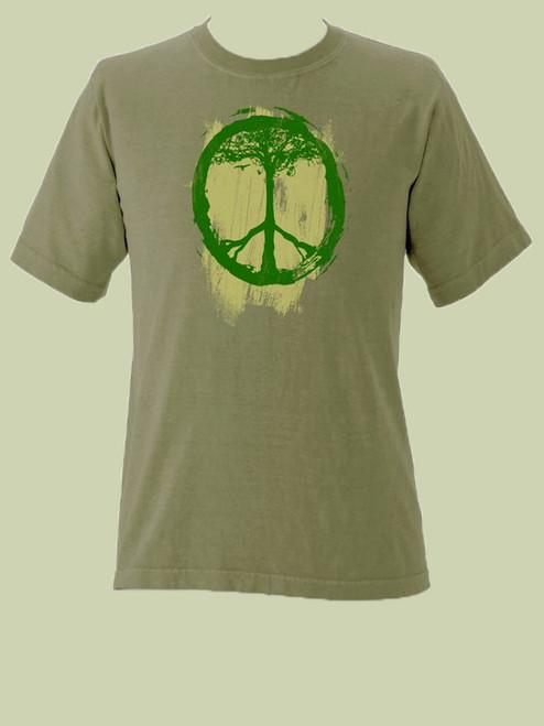 Peace Symbol Tree Short Sleeve Organic Tee
