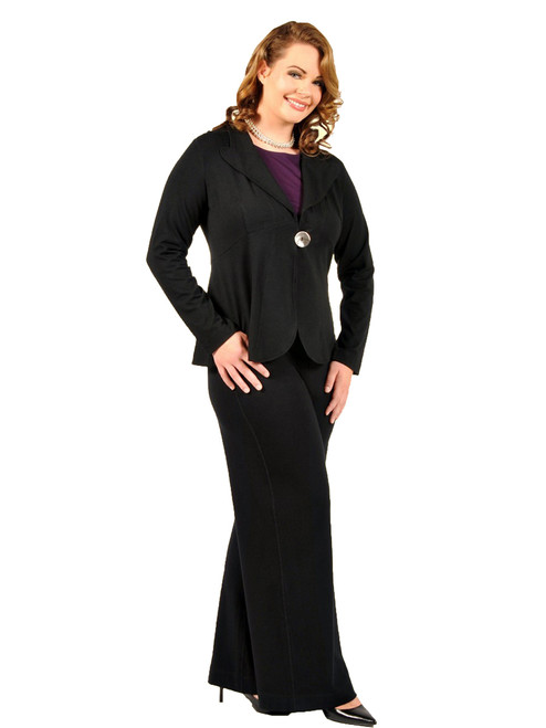 Women's Plus Size Black Paradox Jacket - Bamboo Viscose Knit