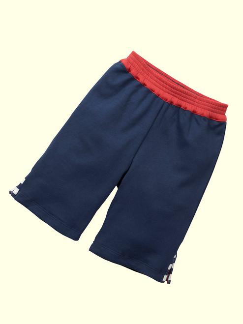 Reversible Navy Deck Shorts . Organic Cotton - Fair Trade