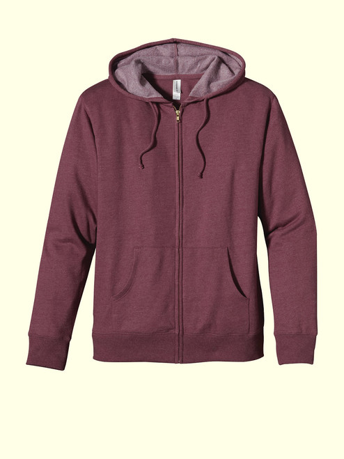 Unisex Full-Zip Hoody  - Organic/Recycled Heathered Fleece