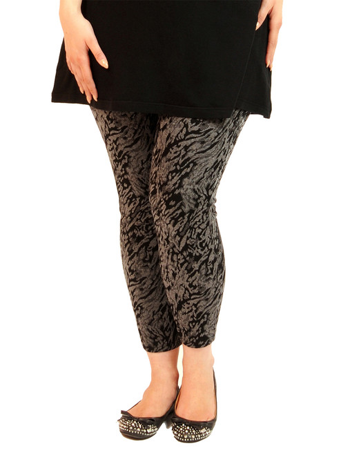 Women's Plus Size Bengal Rejuvenate Leggings - Printed Modal