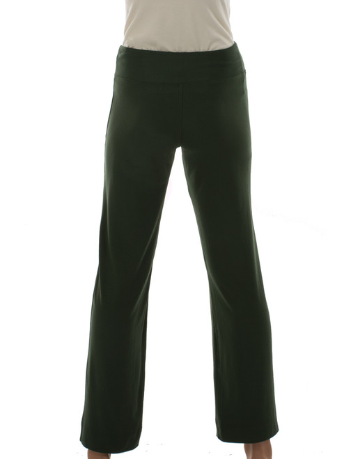 Flex Pant in Moss - Certified Organic Bamboo jersey knit blended