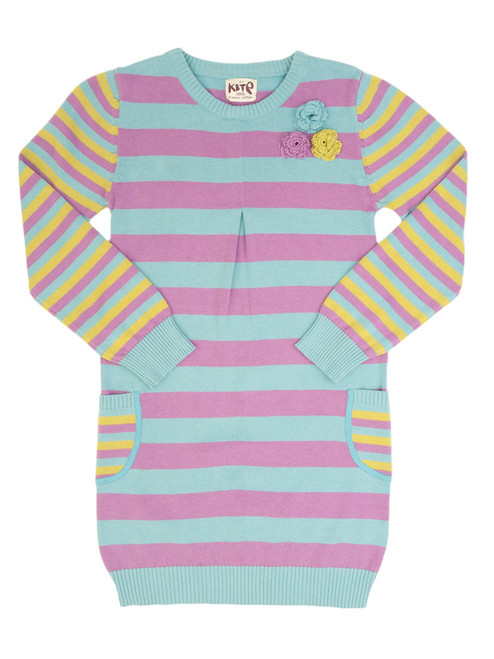 Tood and Girl Stripy Knitted Dress - Organic Cotton