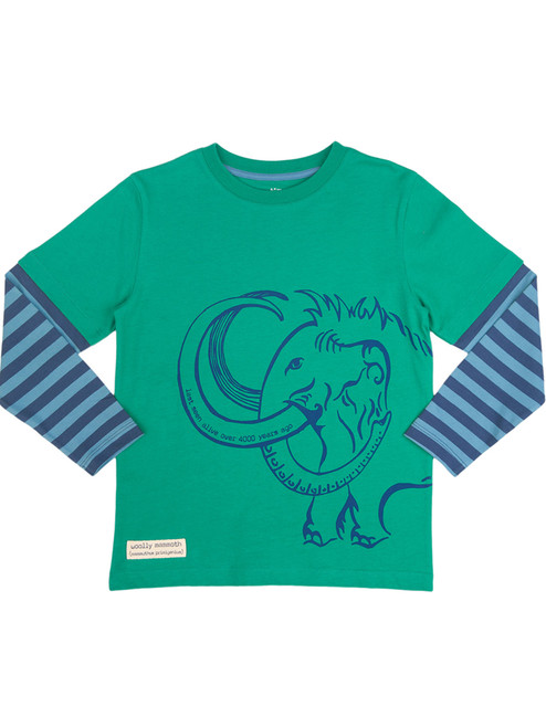 Woolly Mammoth Long Sleeve T-Shirt - Organic Cotton