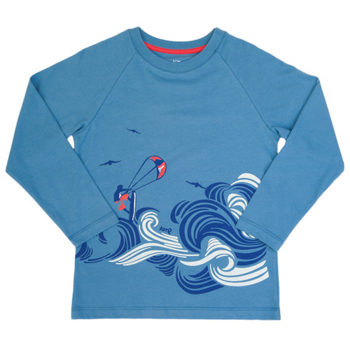 Waves Long Sleeve T-Shirt - Organic Cotton