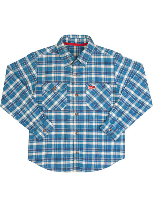 Boys' Check Long Sleeve Shirt - Organic Cotton