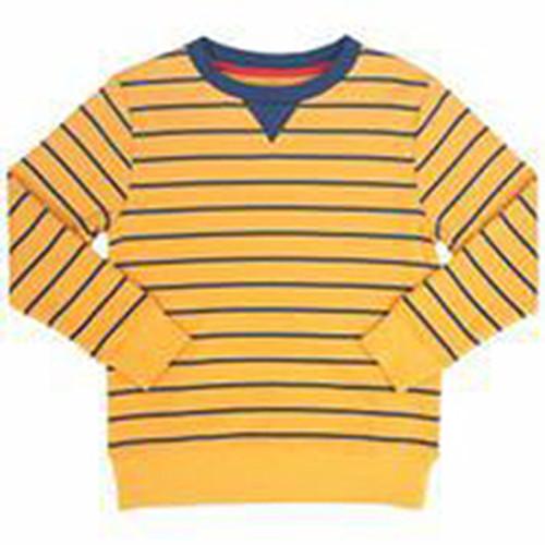 Sweatshirt V-Insert Top - Organic Cotton