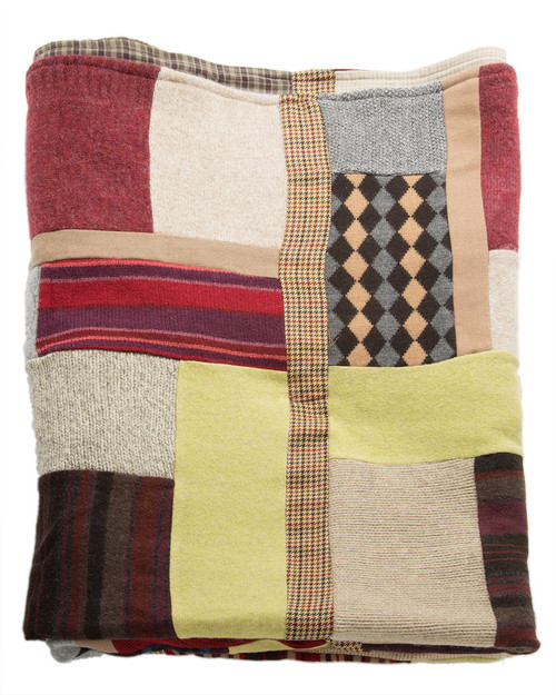 Man in Love Quilt - Recycled Vintage Fabrics