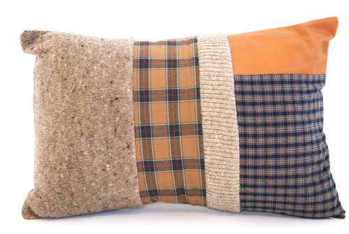 Great Scott Pillow - Recycled Vintage Fabrics
