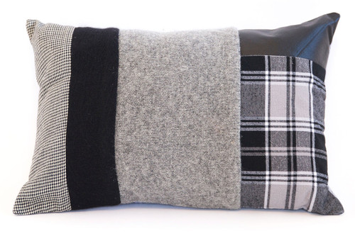 Handsome Pillow - Recycled Vintage Fabrics