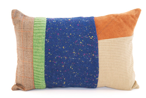 Midnight Hugs Pillow - Recycled Vintage Fabrics