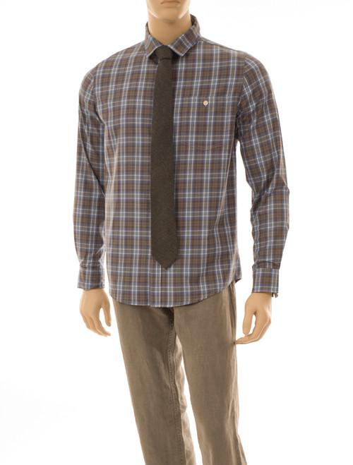 Men's Plaid Long Sleeve Shirt - Organic Cotton