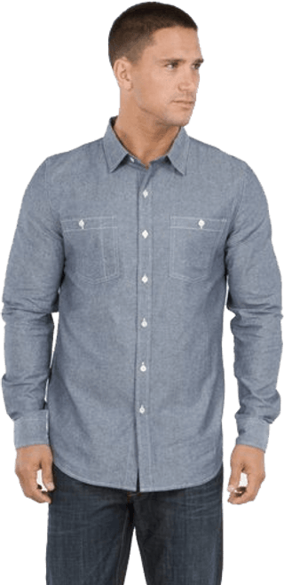 Men's Long Sleeves Work Shirt - Organic Cotton