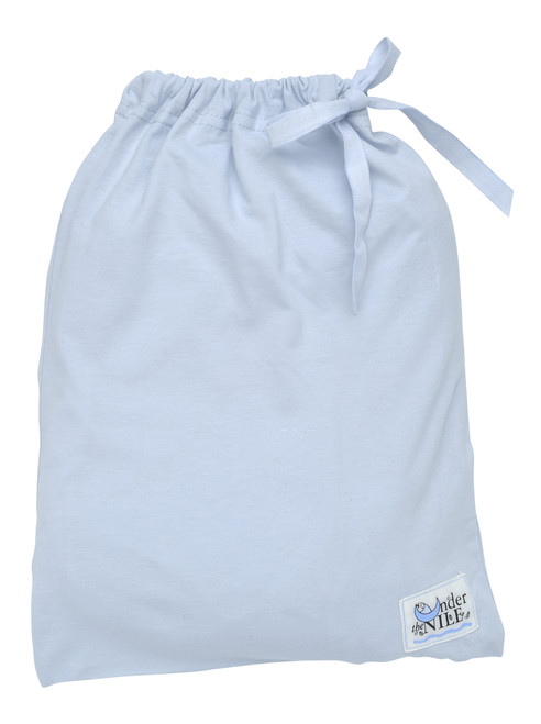 Ice Blue Fitted Crib Sheet In a Bag.  Organic Cotton - Fair Trade