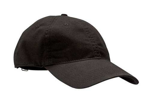 Black Unstructured Baseball Hat - Organic Cotton