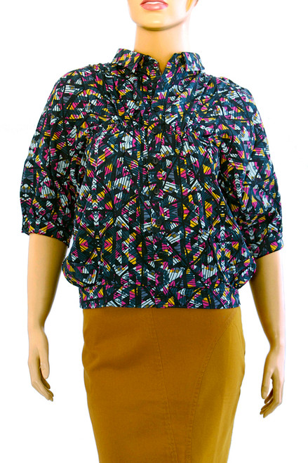 Kabul Shirt Peyote Print - Modal