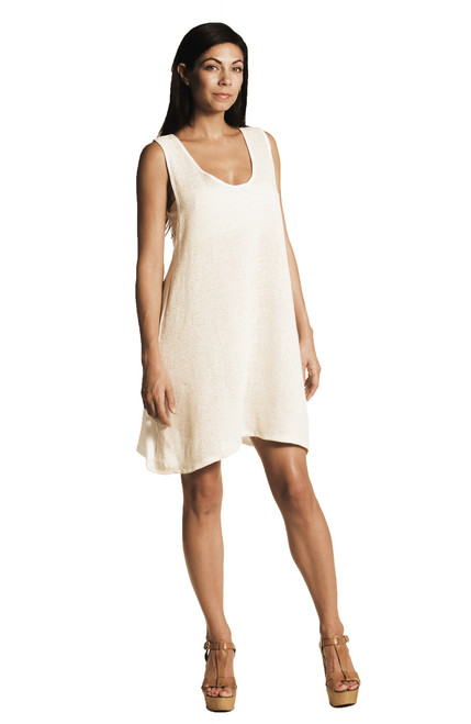 Elih Tunic / Mini Dress -Jute & Modal