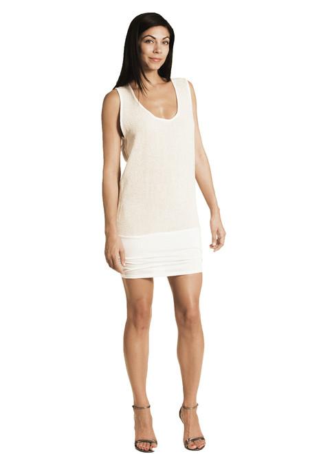 Flora Tunic /Mini Dress - Jute & Modal