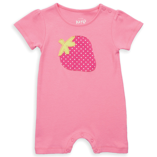 Organic Cotton Strawberry Baby Romper - Fair Trade