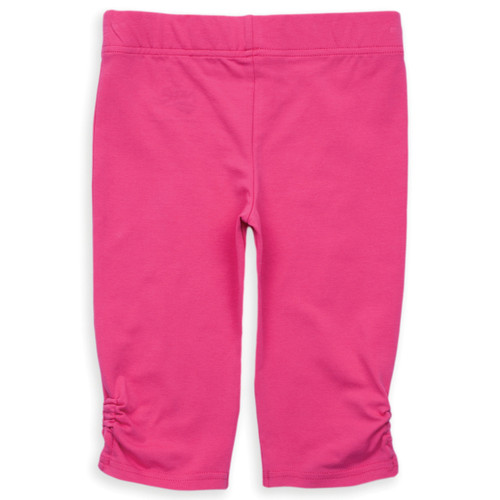 Organic Cotton Girl's Ruched Leg Capri Pants - Fair Trade