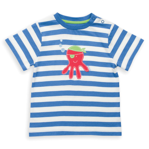 Organic Cotton Baby Pirate Octopus T-Shirt - Fair Trade