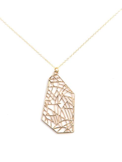 Fern Acres II Necklace . Reclaimed Brass