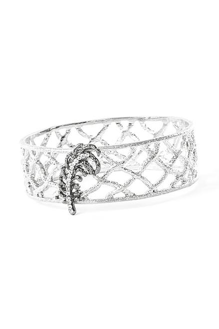Celosia Bracelet . Upcycled Metals
